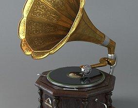 Gramophone 3D model PBR