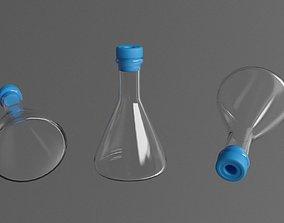 3D model glass test-tube