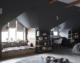 Interior Childrens Bedroom Loft 01 3D model