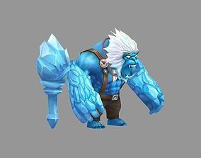 3D asset Yeti monster