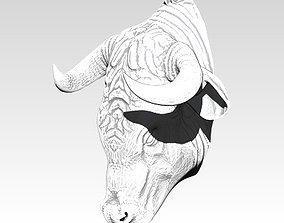 3D printable model Bull head necklace