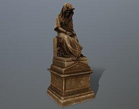 3D asset low-poly statue