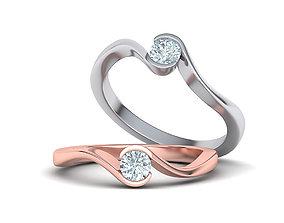 3D printable model Bypass Half Bezel Engagement ring 2