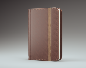 Leather notebook 3D