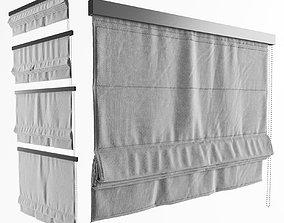 Roman curtain shade 3D model