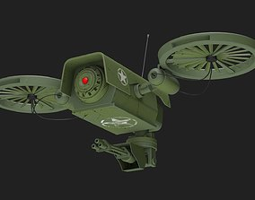 3D Lowpoly PBR Military Drone