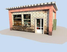 3D asset low poly town building