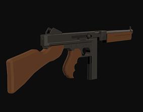 Thompson M1A1 3D model VR / AR ready low