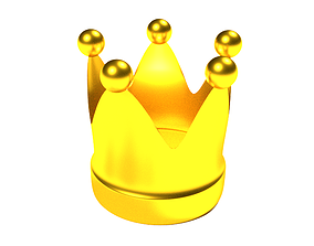 3D model low-poly Crown