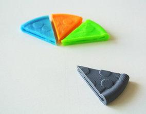 Pizza shaped money clip 3D print model