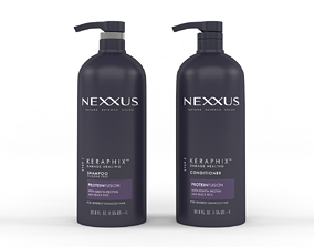 Nexxus Keraphix for Damaged Hair Shampoo and 3D model