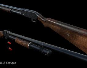 Winchester M12 Shotgun 3D model