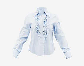 3D model Blue Top Decorated Shirt