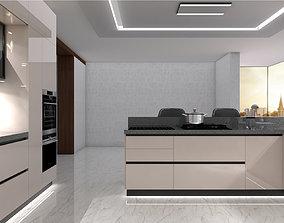 island kitchen 3D
