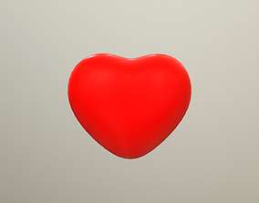 3D asset realtime PBR Animated Heart