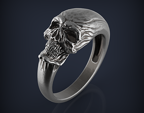 Skull Ring jewelry 3d printable model sculpture