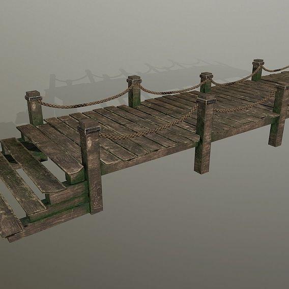 wooden pier set