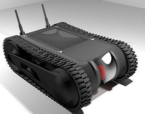 Drone - UGV Robot Tank 3D