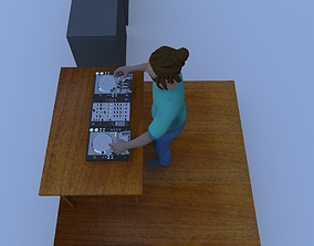 Dj Deejay Trance 3D model