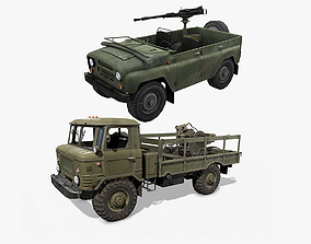 3D model GAZ and UAZ