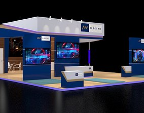 design Exhibition Booth 3D model