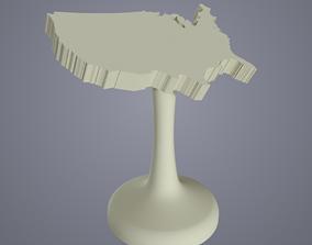 3D print model Little USA