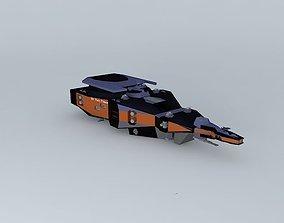 3D SD Fiery Prince Destroyer class