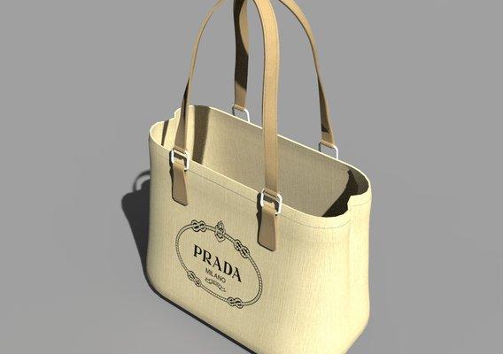 Prada Tote Bag in lowpoly quads