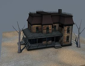 3D asset Low Poly Haunted House