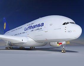 3D A380 Lufthansa