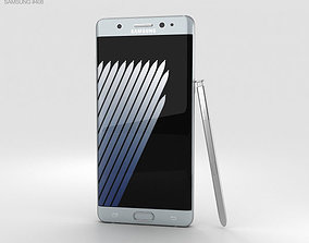 3D model 6 Samsung Galaxy Note 7 Silver Titanium