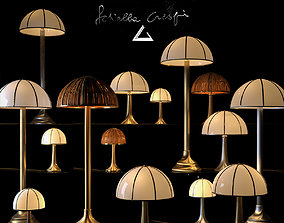 Lamp Set Collection by Gabriella Crespi 3D model