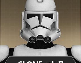 Clone trooper phase II 3D model