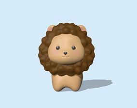 3D print model A cute Lion for decoration and play