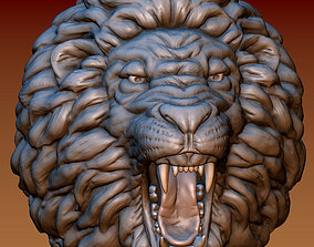 Lion head 3D print model cat