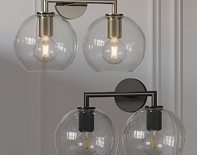 Utilitaire Globe Shade Double Sconce 3D
