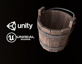 3D model Medieval Wood Bucket - PBR Game Ready