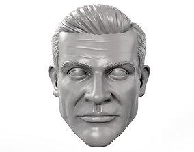 Sean Connery young Bond era action 3D printable model 1