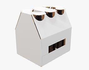 3D model Box bottle carrier