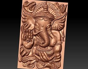 3D relief elephant god genasha