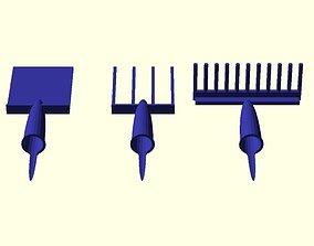 3D print model Pen lid Garden set
