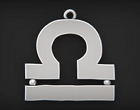 3D print model Simple Libra zodiac pendant