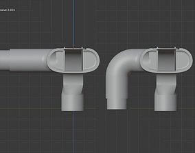 3D printable model adapter respiratory mask valve