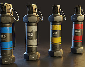 3D model Modern Grenade Collection