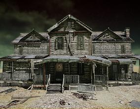3D asset UE4 Abandoned wooden house modular V01 Basic 2