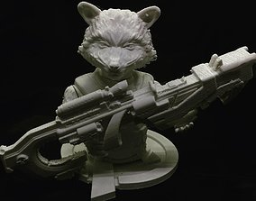 Rocket Raccoon Bust Marvel Avengers End 3D print model