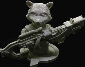 3D printable model Rocket Raccoon Bust Marvel Avengers End