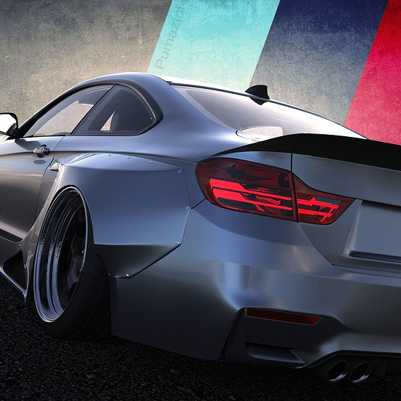 Custom BMW M4 CSL Stance Version