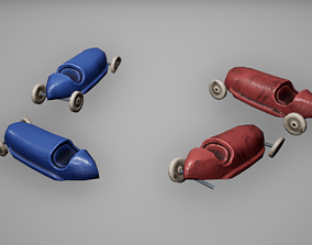 Toy Cars Low Poly Game Ready 3D asset
