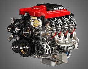LSA V8 Engine - Supercharged Muscle Car Engine 3D model